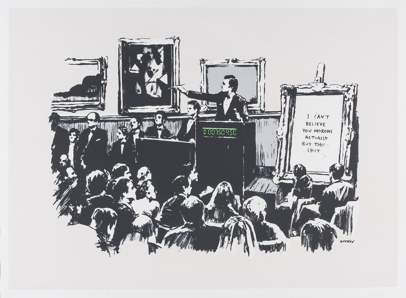 Banksy, 'Morons', 2007, Print, Screenprint in colours, Forum Auctions