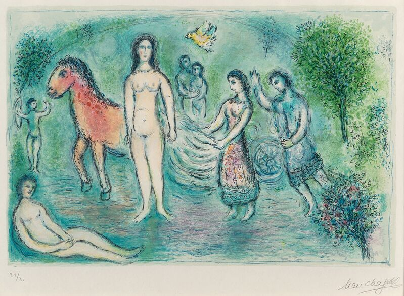 Marc Chagall, 'Homer, from L'Odyssée', 1975, Print, Lithograph in colors on Japon Nacre paper, Heritage Auctions