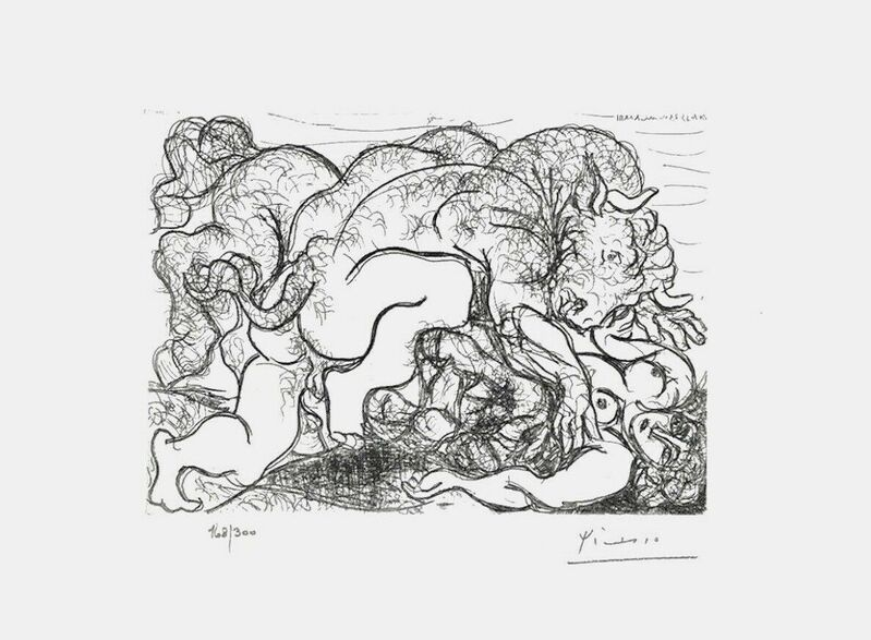 Pablo Picasso, 'Minotaur Assaulting Girl', 1990, Reproduction, Lithograph on wove paper, Art Commerce