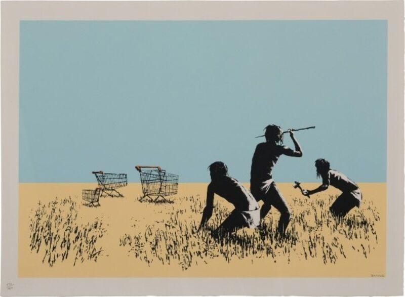 Banksy, 'Trolley Hunters', 2007, Print, Screen-print in colors on wove paper, MoonStar Fine Arts Advisors