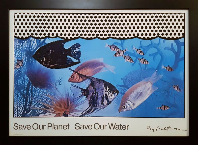 Roy Lichtenstein, 'Save Our Planet Save Our Water', 1971, Posters, Screenprint on Photo-Offset Lithograph, Graves International Art