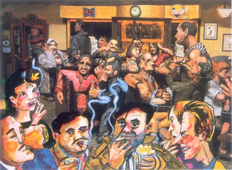 Red Grooms, 'The Cedar Bar', 1987, Print, Lithograph, Marlborough New York
