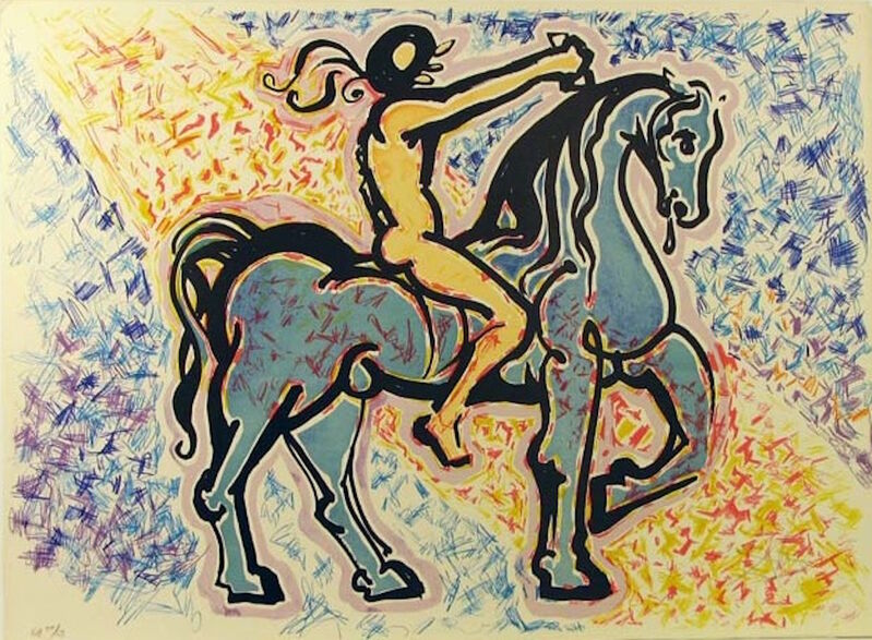Salvador Dalí, 'La Jungle Humaine - Le Cavalier', 1976, Print, Lithograph, Gregg Shienbaum Fine Art