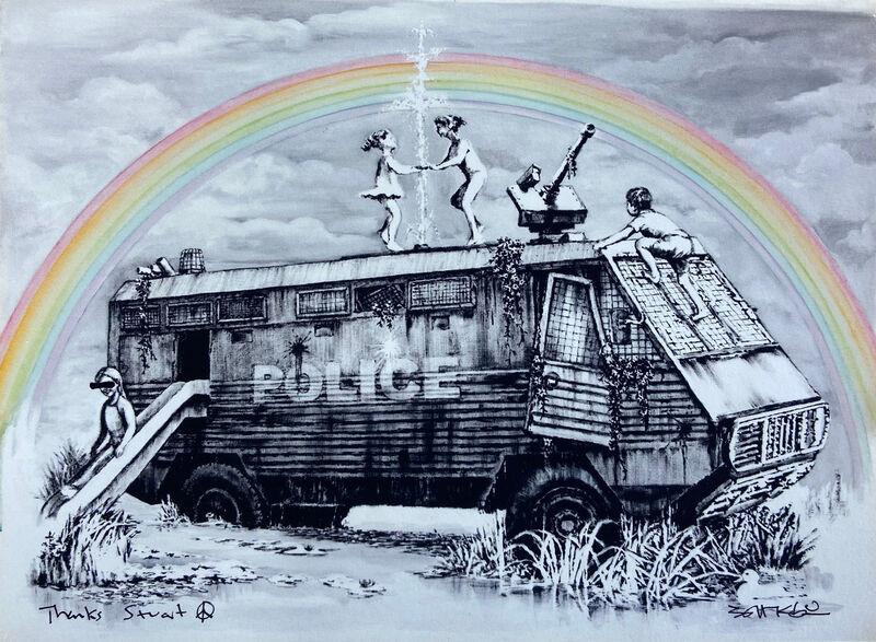 Banksy, 'Police Riot Van - Dismaland Gift Print', 2015, Ephemera or Merchandise, Digital print, The Drang Gallery