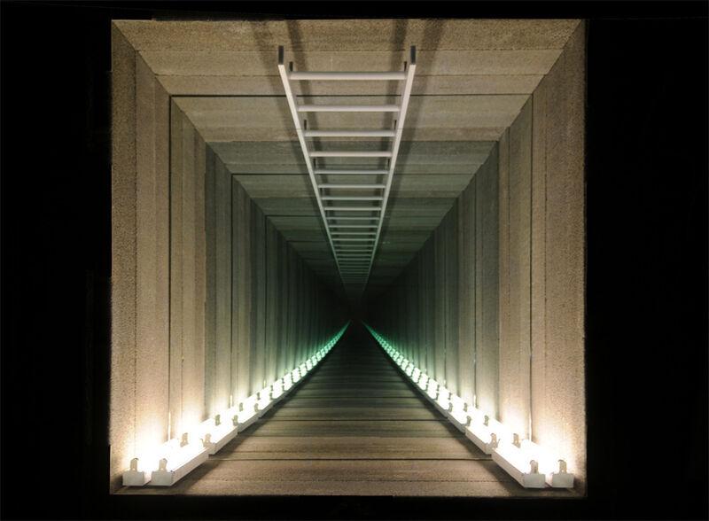 Chul-Hyun Ahn, 'Tunnel', 2013, Sculpture, Cinderblocks, fluorescent lights, and mirrors, C. Grimaldis Gallery