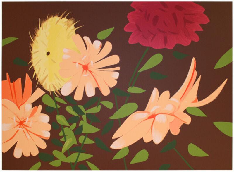 Alex Katz, 'Late Summer Flowers', 2013, Print, 38 color silkscreen on 4-ply, Vertu Fine Art