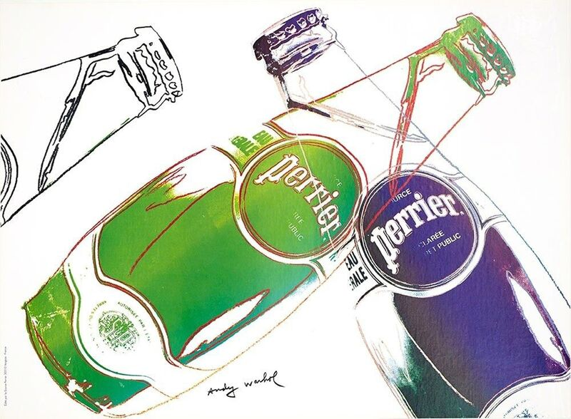 Andy Warhol, 'Perrier', 1983, Ephemera or Merchandise, Offset Lithographic Poster, EHC Fine Art Gallery Auction