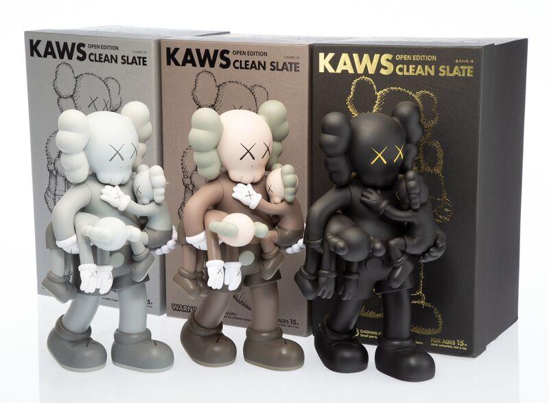 KAWS, 'Clean Slate, set of three', 2018, Sculpture, Painted cast vinyl, Heritage Auctions