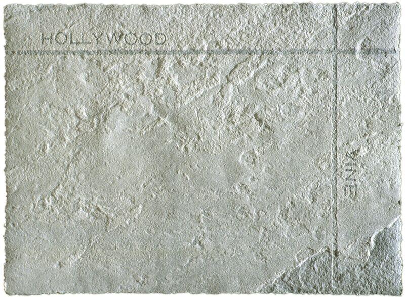 Ed Ruscha, 'Petroplots Suite: Hollywood/Vine', 2001, Print, Mixografía® print on handmade paper, Mixografia