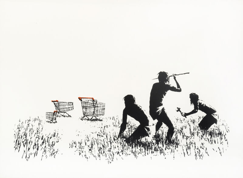 Banksy, 'Trolleys', 2007, Print, Two colour screenprint on Arches paper, Tate Ward Auctions