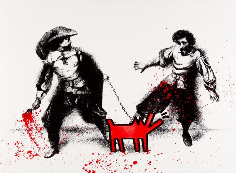 Mr. Brainwash, 'Watch Out! (Red)', 2019, Print, Screenprint in colors with hand finished spray paint and stencil on wove paper, Heritage Auctions