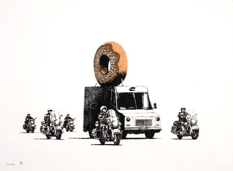 Banksy, 'Donuts (Chocolate)', 2009, Print, Screenprint, Tram Collective