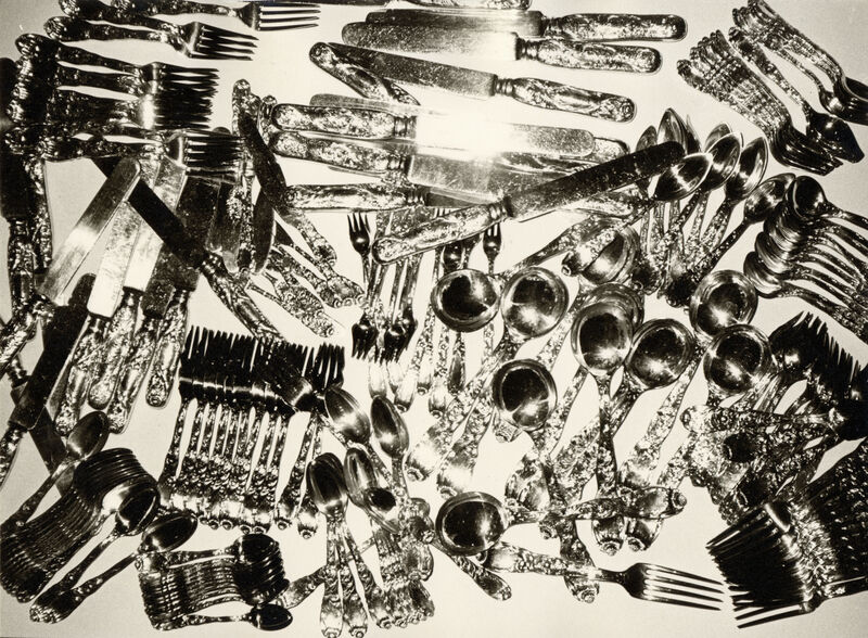 Andy Warhol, 'Silverware', 1982, Photography, Silver gelatin print on paper, Galerie Andrea Caratsch