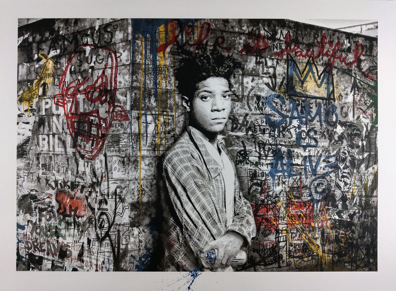 Mr. Brainwash, 'Samo is Alive', 2016, Print, Screenprint on torn paper hand-finished with acrylic, New Union Gallery