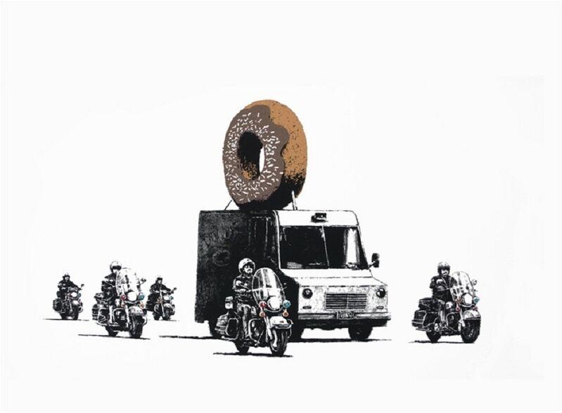 Banksy, 'Donuts (Chocolate)', 2009, Print, Screenprint on paper, Taglialatella Galleries