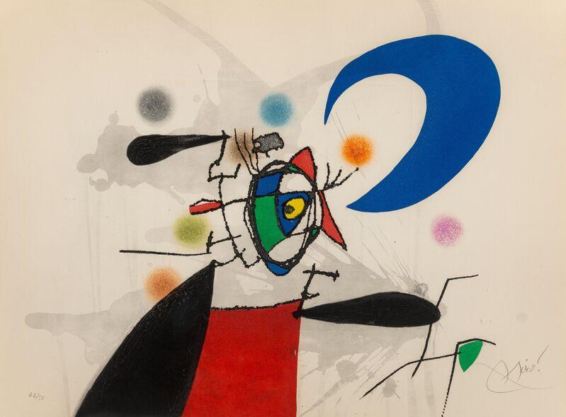 Joan Miró, 'Le mégère et la lune', 1973, Print, Etching and aquatint in colors on Arches paper, Heritage Auctions