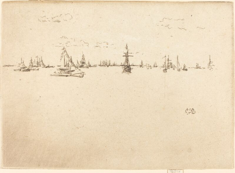 James Abbott McNeill Whistler, 'The Turret-Ship', 1887, Print, Etching in black on laid paper, National Gallery of Art, Washington, D.C.