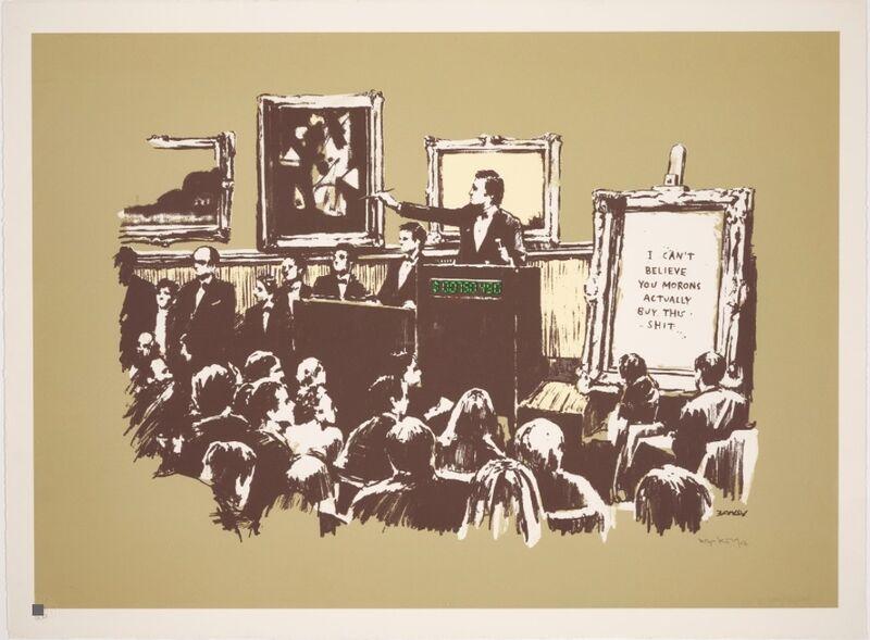Banksy, 'Morons (Sepia)', 2007, Print, Screenprint in colours, on wove paper., HOFA Gallery (House of Fine Art)