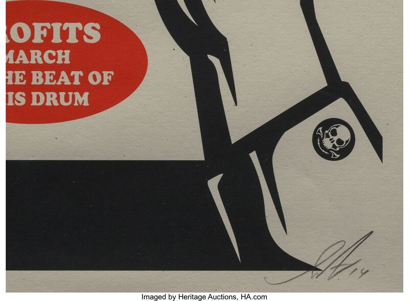 Shepard Fairey, 'Paint it Black (Brush) and Paint it Black (Hand)', 2014, Print, Screenprints in colors on Spekletone paper, Heritage Auctions
