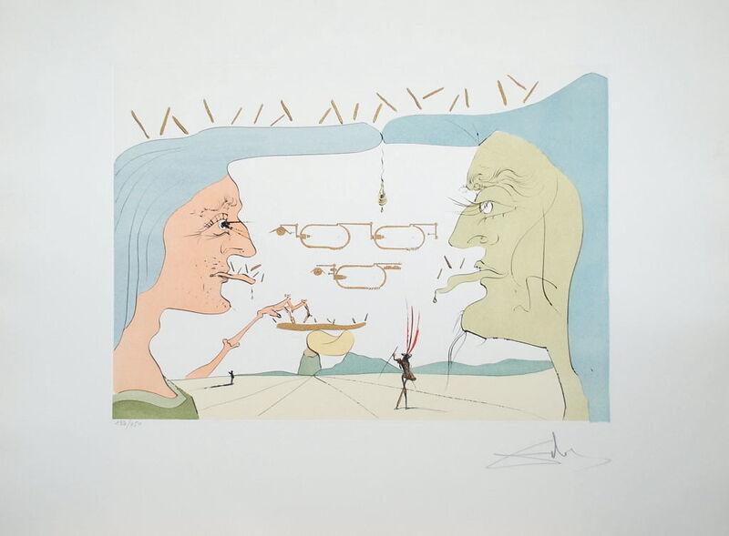 Salvador Dalí, 'Le Télégraphe', ca. 1970, Print, Engraving on paper, Samhart Gallery