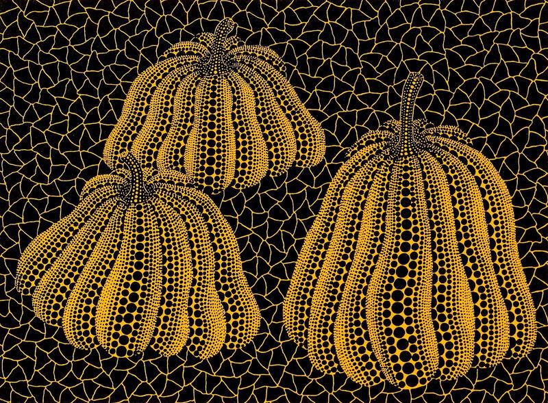 Yayoi Kusama, 'Three Pumpkins', 1993, Print, Screenprint in colors, on wove paper, Upsilon Gallery