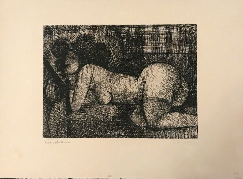 Marcel Gromaire, 'Nude Woman', 1930s, Print, Etching, Wallector