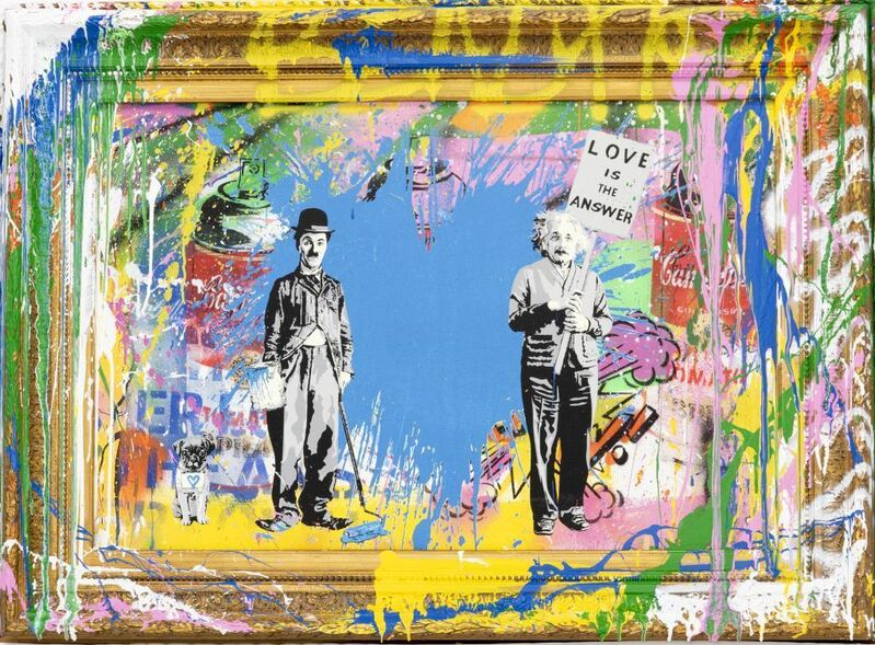 Mr. Brainwash, 'Love is the answer', 2020, Painting, Mixed media on Canvas, Kapopoulos Fine Arts