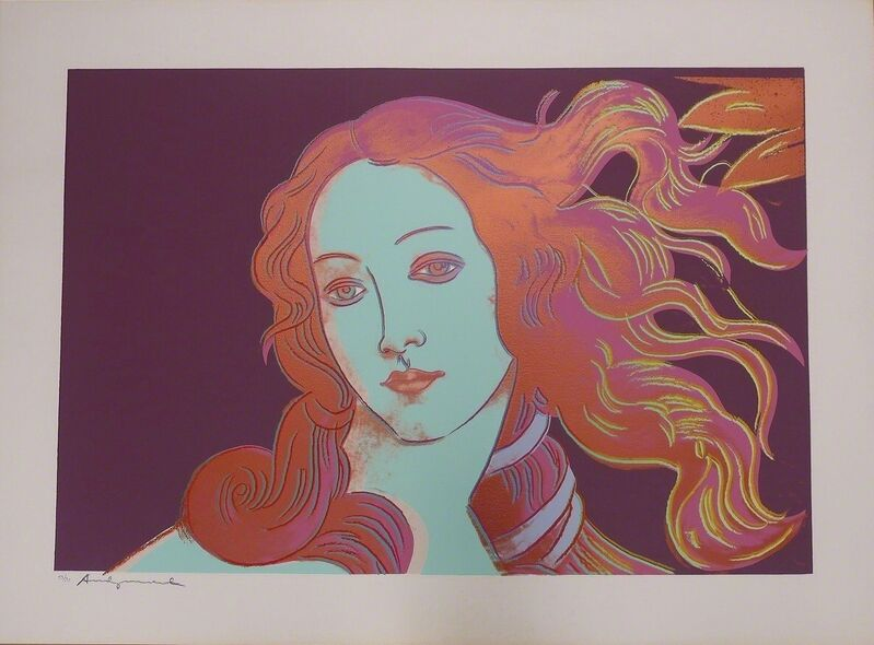 Andy Warhol, 'Details of Renaissance Paintings (Sandro Botticelli, Birth of Venus 1482) F&S II.317', 1984, Print, Screenprint in Colors on Arches Aquarelle (Cold Pressed) paper, Fine Art Mia