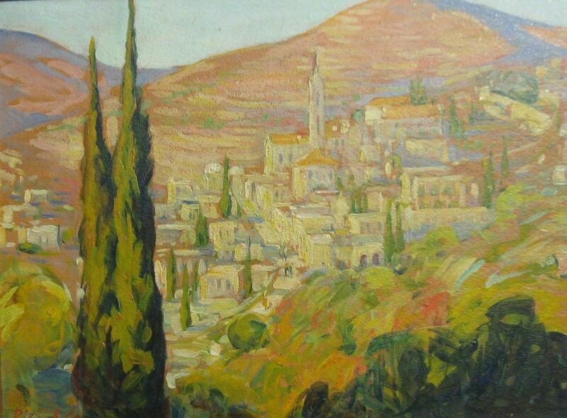 Dixie Selden, 'Werusulemd Aid Kinneri', Painting, Oil on board, Mary Ran Gallery