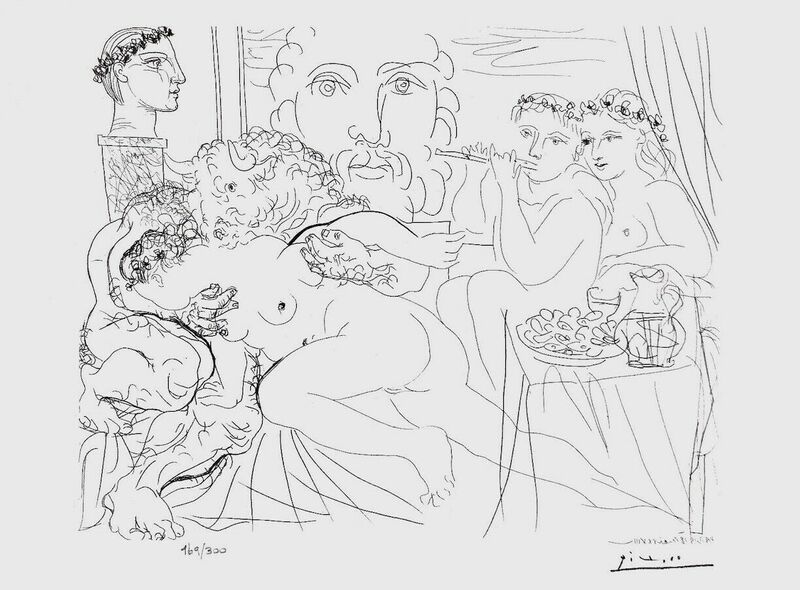 Pablo Picasso, 'Minotaur Caressing Girl  ', 1990, Reproduction, Lithograph on wove paper, Art Commerce