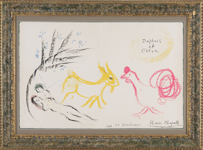 Marc Chagall, 'Autour de Daphnis et Chloe', 1961, Drawing, Collage or other Work on Paper, Pastel on paper, Galerie Bromer