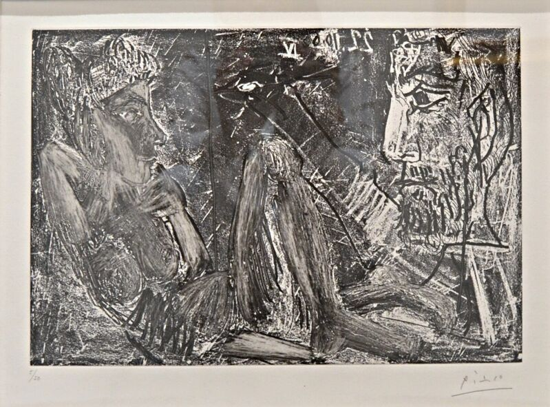 Pablo Picasso, 'Homme et Femme (B.1385; BA.1407)', 1966, Print, Etching and aquatint on wove paper., Off The Wall Gallery