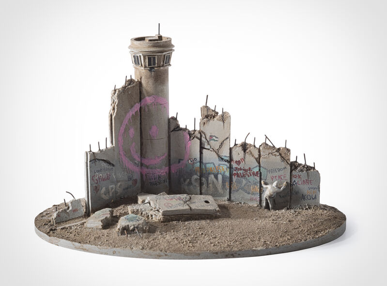 Banksy, 'Walled Off Hotel - Eight Part Souvenir Wall Section With Watch Tower (Smiley Tower)', Sculpture, Hand painted resin sculpture, Tate Ward Auctions