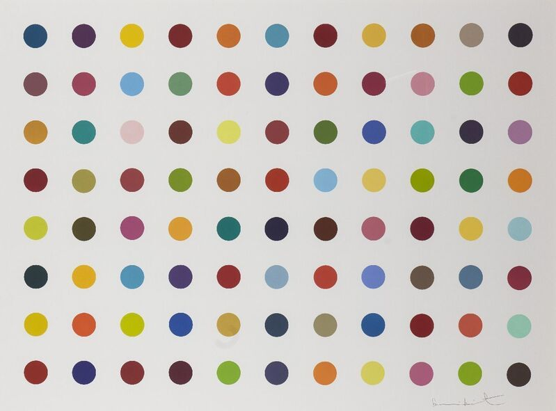 Damien Hirst, 'M-Fluorobenzylamine', 2018, Print, Woodcut in colours on wove, Roseberys
