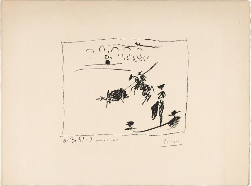 Pablo Picasso, 'LA PIQUE (BLOCH 1014)', 1961, Print, Lithograph on Arches paper, Doyle
