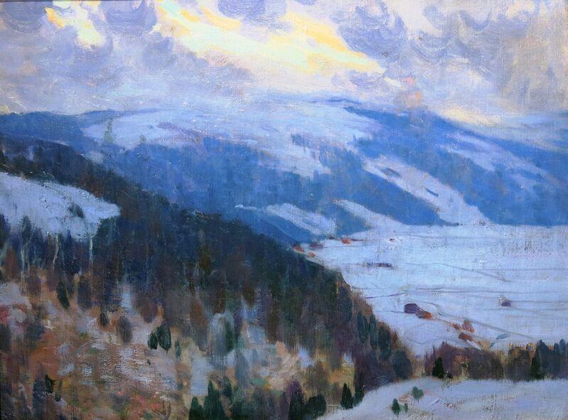 Clarence A. Gagnon, 'Vue de la vallée du Gouffre, Charlevoix ', 1915, Painting, Oil on panel, Galerie Claude Lafitte