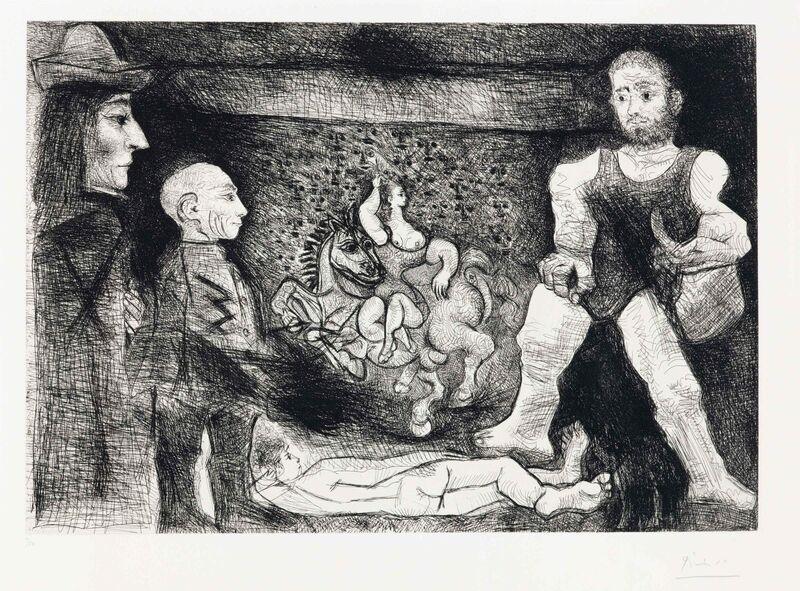Pablo Picasso, 'Picasso, son oeuvre, et son public, from La Série 347', 1968, Print, Etching on Rives paper, Christie's