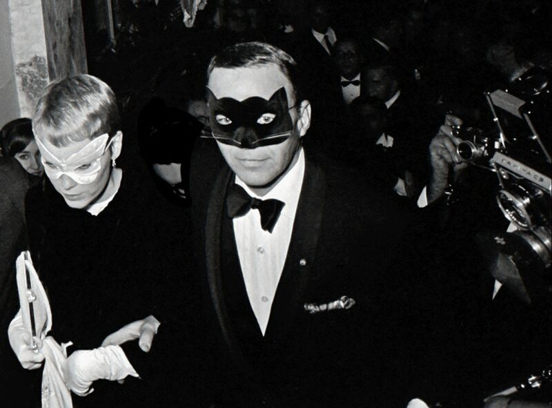 """Harry Benson, 'Frank Sinatra and Mia Farrow at Truman Capote's """"Black and White"""" Ball at the Plaza Hotel, New York', 1966, Photography, Archival Pigment Print, Staley-Wise Gallery"""
