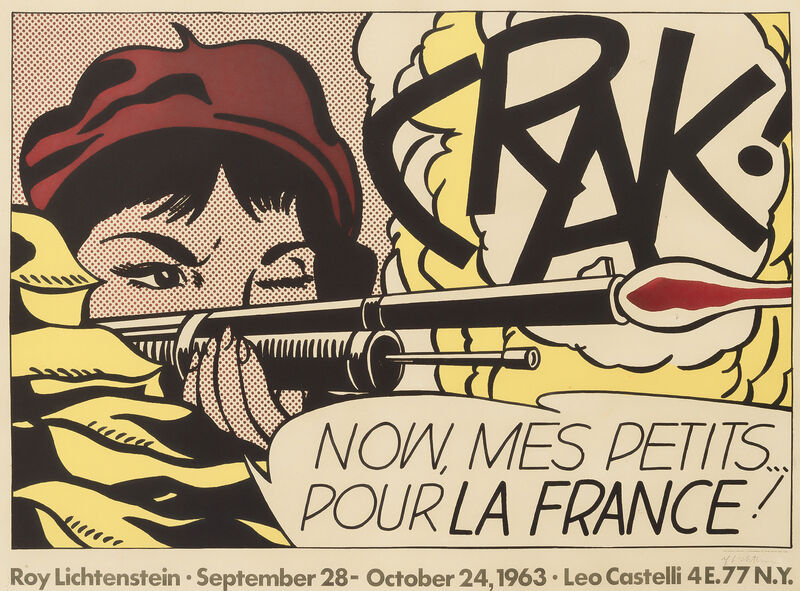 Roy Lichtenstein, 'Crak!', 1964, Print, Offset lithograph in colours on wove paper, Tate Ward Auctions