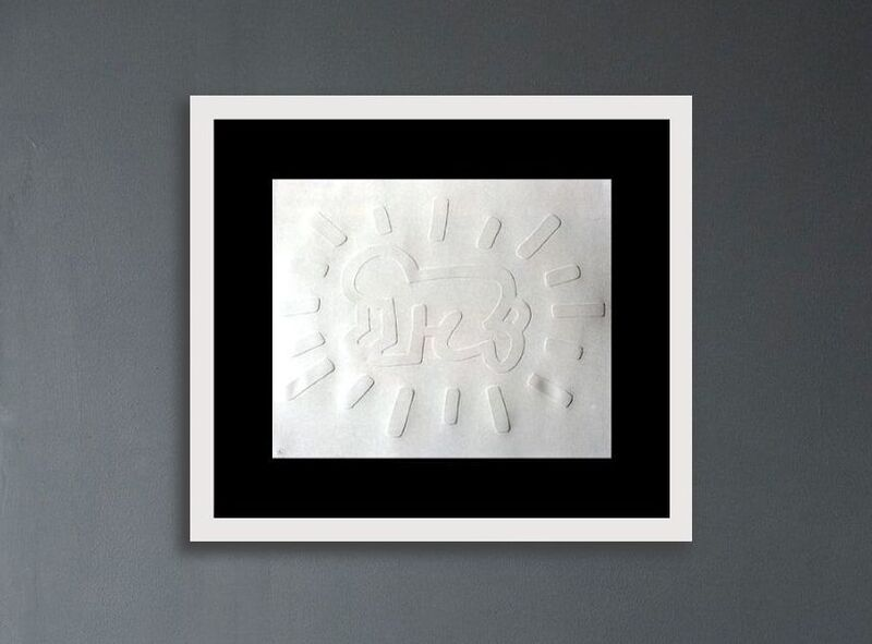 Keith Haring, 'Radiant Baby', 1990 , Print, Embossing on Arches Paper, Lush Art Agency