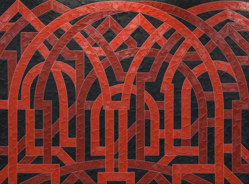 Valerie Jaudon, 'Palmyra', 1982, Painting, Oil on canvas, Heather James Fine Art