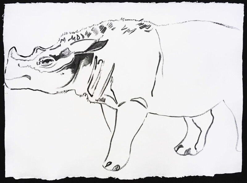 Andy Warhol, 'Vanishing Animals - Sumatras Rhinoceros', 1986, Drawing, Collage or other Work on Paper, Synthetic polymer paint, Hamilton-Selway Fine Art