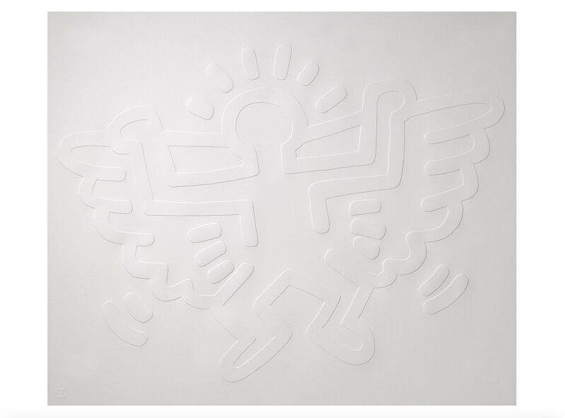 Keith Haring, 'White Icons (Complete set)', 1990, Print, Embossing, on Arches Cover paper, Emily Friedman Fine Art