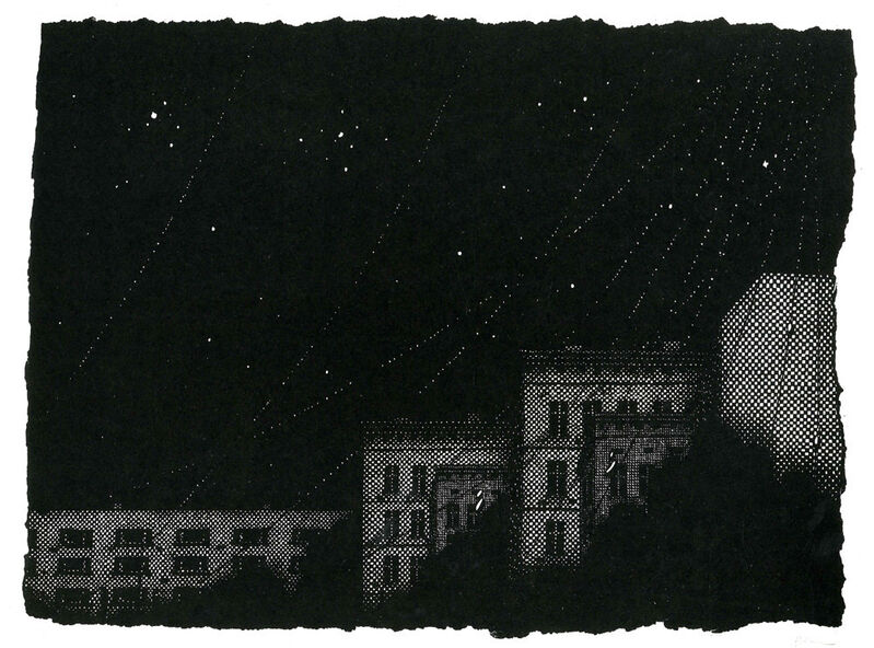 Nicolas Poignon, 'Night-Double-City', 2013, Print, Linocut, Emanuel von Baeyer