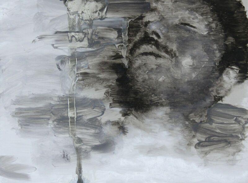 William Reinsch, 'Death Study 3', 2019, Painting, Oil on aluminium, Castlegate House Gallery