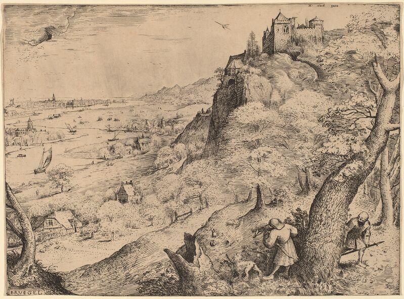 Pieter Bruegel the Elder, 'The Rabbit Hunters', 1566, Print, Etching, National Gallery of Art, Washington, D.C.