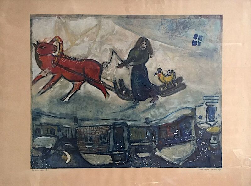 Marc Chagall, 'Le Cheval Rouge', 1954, Print, Original lithograph on wove paper, Samhart Gallery