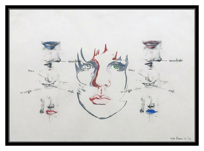 Larry Rivers, 'Diane Raised IV', 1970-1980, Print, Color Lithograph, Original Art Broker