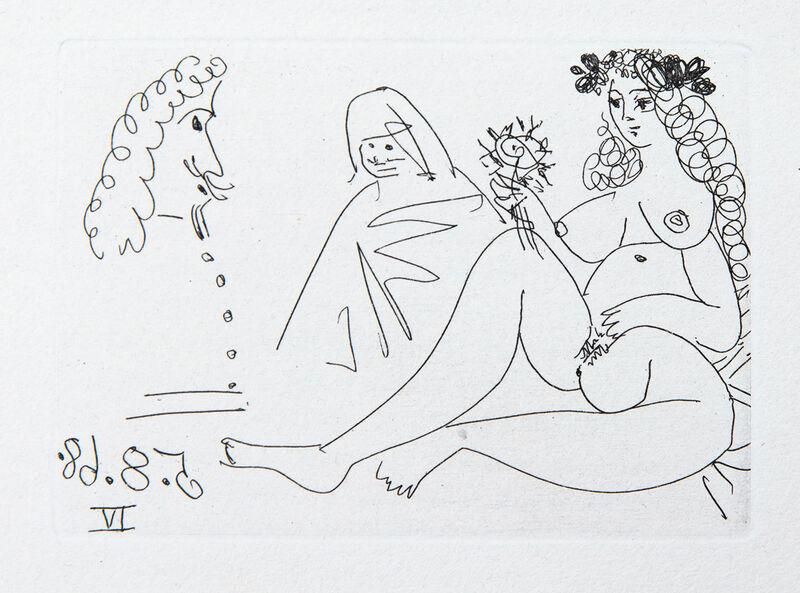 Pablo Picasso, 'Femme Blonde à la Fleur', 1968, Print, Etching and aquatint, Goldmark Gallery