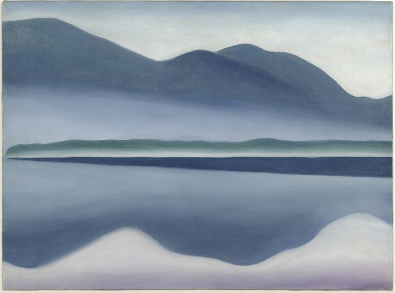 Georgia O'Keeffe, 'Lake George [formerly Reflection Seascape]', 1922, Painting, Oil on canvas, San Francisco Museum of Modern Art (SFMOMA)